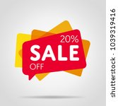 special offer sale red tag... | Shutterstock .eps vector #1039319416