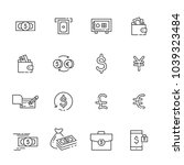 finance thin line icon set 2 ... | Shutterstock .eps vector #1039323484