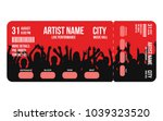 concert ticket template.... | Shutterstock .eps vector #1039323520