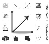 steady growth arrow chart icon. ...   Shutterstock .eps vector #1039334560