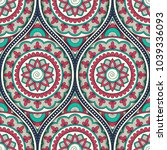 seamless pattern with ethnic... | Shutterstock . vector #1039336093