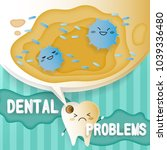 tooth with decay problems on he ... | Shutterstock .eps vector #1039336480
