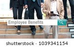 businessman legs walking the... | Shutterstock . vector #1039341154
