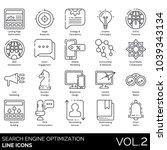 seo   web line icons. landing... | Shutterstock .eps vector #1039343134
