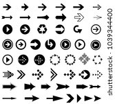 arrows design set | Shutterstock .eps vector #1039344400