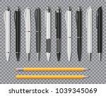 set of realistic office elegant ... | Shutterstock .eps vector #1039345069