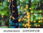 led lights garland  colorful... | Shutterstock . vector #1039349158