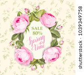 spring sale card. the sign in... | Shutterstock .eps vector #1039349758
