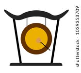 isolated gong icon. musical... | Shutterstock .eps vector #1039353709