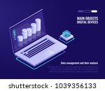 data structuring and analysis ... | Shutterstock .eps vector #1039356133