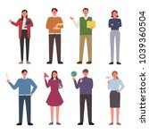 teachers who teach various... | Shutterstock .eps vector #1039360504