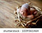 baby  background  bird  boy... | Shutterstock . vector #1039361464
