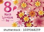 women day 8 march text... | Shutterstock .eps vector #1039368259