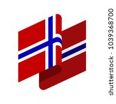 norway flag isolated. norwegian ... | Shutterstock .eps vector #1039368700
