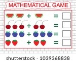 mathematical game for children. ... | Shutterstock .eps vector #1039368838