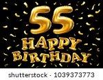 vector happy birthday 55th...   Shutterstock .eps vector #1039373773