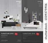 2 vertical banner furniture... | Shutterstock .eps vector #1039375906