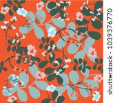 seamless floral pattern in...   Shutterstock .eps vector #1039376770