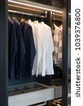 brown cloakroom closet with... | Shutterstock . vector #1039376800