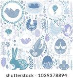 easter seamless pattern in... | Shutterstock .eps vector #1039378894