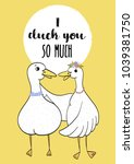 premade postcard with duck ...   Shutterstock .eps vector #1039381750