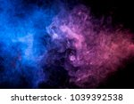 colorful smoke of blue  pink ... | Shutterstock . vector #1039392538