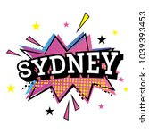 sydney australia comic text in... | Shutterstock . vector #1039393453