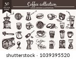 vector set with hand drawn... | Shutterstock .eps vector #1039395520