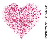 vector abstract heart. easy to... | Shutterstock .eps vector #103939934