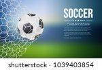 soccer game match goal moment... | Shutterstock .eps vector #1039403854