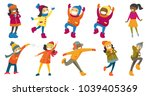 multicultural children and...   Shutterstock .eps vector #1039405369