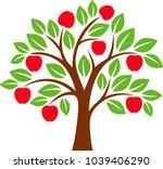 decorative tree series | Shutterstock .eps vector #1039406290
