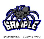 Black Spider Mascot Vector