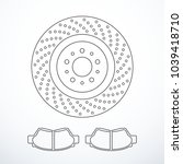 vector brake disc and pads... | Shutterstock .eps vector #1039418710