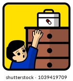keep the medicine cabinet away... | Shutterstock .eps vector #1039419709