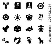 solid vector icon set   holly...   Shutterstock .eps vector #1039421299