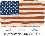 usa rough flag | Shutterstock .eps vector #1039421506