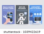 build chatbot without coding.... | Shutterstock .eps vector #1039422619