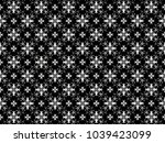 ornament with elements of black ... | Shutterstock . vector #1039423099