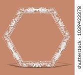 carved vintage frame made of... | Shutterstock .eps vector #1039423378