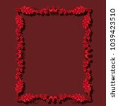 frame ruby color with shadow on ... | Shutterstock .eps vector #1039423510