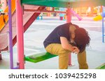 stress of asian boys in the... | Shutterstock . vector #1039425298