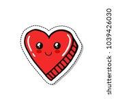 heart doodle icon   Shutterstock .eps vector #1039426030
