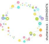 social media marketing ... | Shutterstock .eps vector #1039430476