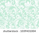 flower pattern. seamless white... | Shutterstock .eps vector #1039431004