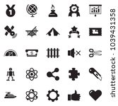 solid black vector icon set  ... | Shutterstock .eps vector #1039431358