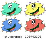 germs and bugs in different... | Shutterstock .eps vector #103943303
