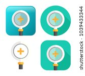 zoom in icon   magnifying glass ... | Shutterstock .eps vector #1039433344