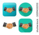 agreement  handshake icon  ... | Shutterstock .eps vector #1039433353