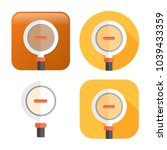 zoom out icon   magnifying... | Shutterstock .eps vector #1039433359